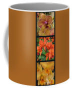 Orchids Vertical Triptych Coffee Mug