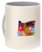 Oregon Map Art - Painted Map Of Oregon Coffee Mug