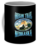 Oregon Trail Nebraska History Design Coffee Mug
