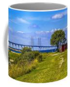 Oresund Bridge With Cabanas Coffee Mug