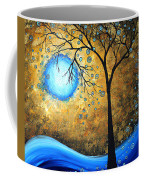 Orginal Abstract Landscape Painting Blue Fire By Madart Coffee Mug