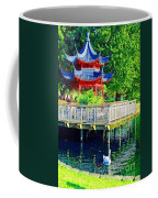 Orient Swan Pagoda Coffee Mug