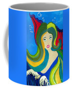 Japanese Mermaid Bubbles  Coffee Mug