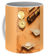 Origami Paper Boats On A Voyage Of Exploration Coffee Mug