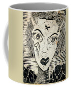 Original Devil Block Print Coffee Mug