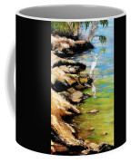 Original Fine Art Painting Pool Edge Gulf Coast Florida Coffee Mug by G Linsenmayer