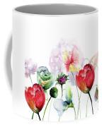 Original Floral Background With Flowers Coffee Mug