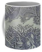Original Linoleum Block Print Coffee Mug