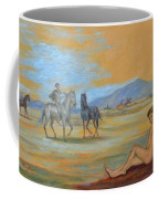 Original Oil Painting Art Male Nude With Horses On Canvas #16-2-5 Coffee Mug