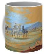 Original Oil Painting Art Male Nude With Horses On Canvas #16-2-5 Coffee Mug