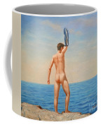 Original  Oil Painting Gay Art Male Nude By Body On Canvas#16-2-5-011 Coffee Mug