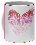 Original Oil Painting Heart, Painting Butterflies, Valentines Day Art, Wall Art Love Coffee Mug