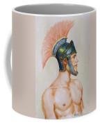 Original Watercolour Painting Art Male Nude Portrait Of General  On Paper #16-3-4-19 Coffee Mug