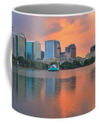 Orlando Skyscrapers And Palm Trees Coffee Mug