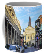 Orleans Street And St Louis Cathedral Coffee Mug