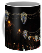 Ornamental Design Christmas Light Decoration In Madrid, Spain Coffee Mug