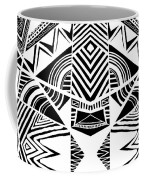 Ornamental Intersection - Abstract Black And White Graphic Drawing Coffee Mug