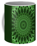 Ornamented Mandala In Green Tones Coffee Mug