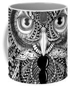 Ornate Owl Coffee Mug by Becky Herrera