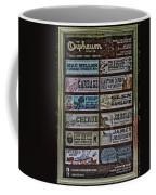 Orpheum Theater Playbill Coffee Mug
