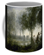 Orpheus Leading Eurydice From The Underworld Coffee Mug by Jean-Baptiste-Camille Corot