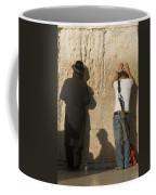 Orthodox Jew And Soldier Pray, Western Coffee Mug by Richard Nowitz