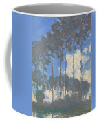 Oscar Monet   Poplars On The Epte Coffee Mug