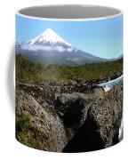 Osorno Volcano From Petrohue Falls Coffee Mug