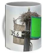 Osprey At Its Nest In A Navigation Marker Coffee Mug