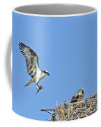 Osprey Brings Fish To Nest Coffee Mug