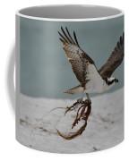 Osprey Flying With Seaweed Coffee Mug