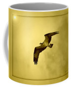 Osprey Soaring Into Golden Sunlight Coffee Mug