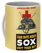 Our Boys Need Sox - Knit Your Bit Coffee Mug