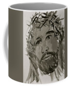 Our Lord Cries In Black And White Coffee Mug