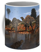 Ouranosaurus Drink At A Watering Hole Coffee Mug