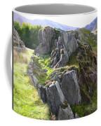 Outcrop In Snowdonia Coffee Mug