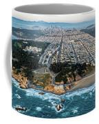 Outer Richmond San Francisco Aerial Coffee Mug