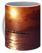 Outrigger Canoe At Sunset Coffee Mug