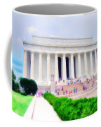 Outside The Lincoln Memorial Coffee Mug