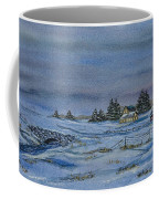 Over The Bridge And Through The Snow Coffee Mug by Charlotte Blanchard