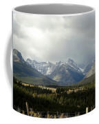 Over The Fence To Dusted Mountains Coffee Mug
