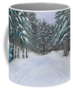 Snow Tracks Coffee Mug