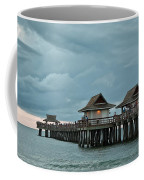Clouds Over The Naples Pier Coffee Mug