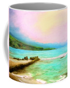 Overcast Sunset At Napoopoo Beach Park Coffee Mug