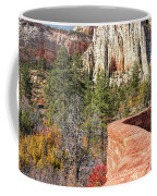 Overlook In Zion National Park Upper Plateau Coffee Mug