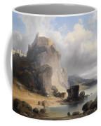 overlooking the castle ruins Devin Coffee Mug