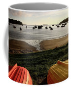 Overturned Boats On Shore Of Harbor Coffee Mug