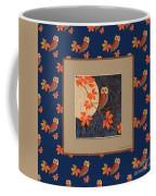 Owl And Moon On Midnight Blue Coffee Mug