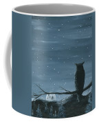 Owl And The Moon Coffee Mug