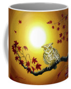 Owl In Autumn Glow Coffee Mug